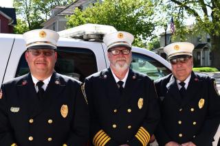 Fire Chiefs Dana Regatuso, Ken Reymer, and Dave Brown